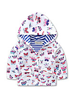 Girls Kids Casual/Daily Sports School Coat Cotton Winter Spring Fall Long Sleeve Hoodie Baby Jacket