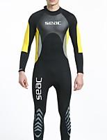 HISEA® Homme 3mm Costumes humides Combinaison  Intégrale Confortable Ecran Solaire LYCRA® Tenue de plongée Manches longues Combinaisons-