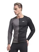 Sports Men's Wetsuit Top Breathable Quick Dry Anatomic Design Neoprene Diving Suit Long Sleeve Tops-Diving Fall/Autumn WinterFashion
