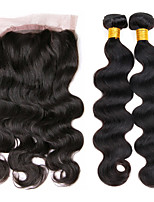 One Pack Solution Cheveux Brésiliens Ondulation naturelle 12 mois 3 Pièces tissages de cheveux