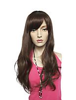 longue perruque de fibres synthétiques ondulés coiffure cosplay costume sans bouchon