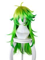 Perruques de Cosplay Cosplay Cosplay Jaune Vert Longue Manga Perruques de Cosplay 80 CM Fibre résistante à la chaleur