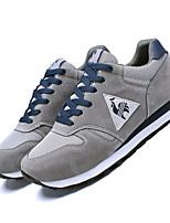 Herren-Sneaker-Outddor Lässig Sportlich-Leinwand-Niedriger Absatz-Leuchtende Sohlen Komfort-Schwarz Grau