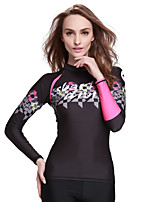 SBART® Women's Wetsuit Top Quick Dry Sunscreen Elastane Terylene Diving Suit Long Sleeve Tops-Swimming Spring Summer Fall/Autumn Winter