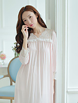 Women's Teddy Nightwear,Lace Solid-Thin Cotton Women's