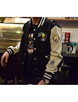 Sweatshirt Homme Grandes Tailles Décontracté / Quotidien Punk & Gothique Imprimé énorme Col Arrondi Capuche Amovible Non Elastique Coton