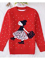 Casual/Daily Print Sweater & Cardigan,Cotton Winter Fall Long Sleeve Regular