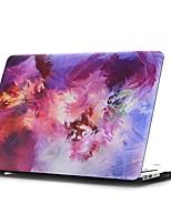 Caso do macbook do teste padrão roxo da pintura a óleo para macbook air11 / 13 pro13 / 15 pro com retina13 / 15 macbook12