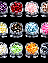 12PCS Nail Art Decoration Circular Color Pearl Gao Liangguang  12 Color  3mm 4mm 5mm