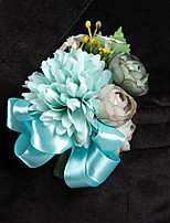 Wedding Flowers Free-form Peonies Boutonnieres Wedding / Party/ Evening Satin