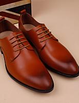 Черный Коричневый-Для мужчин-Повседневный-Кожа-На плоской подошве-Формальная обувь-Мокасины и Свитер