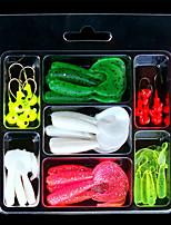 2 штук Мягкие приманки Случайный цвет 77 г Унция мм дюймовый,Пластик Обычная рыбалка