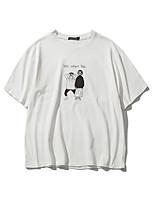 Slim Korean men printed short-sleeved T-shirt Children Aberdeen style