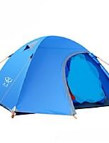 3-4 personnes Double Une pièce Tente de campingRandonnée Camping Voyage-Vert Bleu Orange