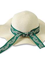 Women 's Summer Bow Ribbon Beach Holiday Sunscreen Woven Straw Travel Jazz England Sun Hat
