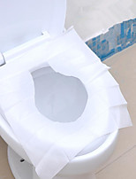 1Packs 10Pcs Travel Disposable Toilet Seat Cover Wc Mat 100% Waterproof Toilet Paper Pad Bathroom Accessories Set