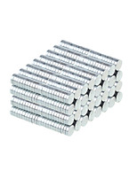 4*1mm Strong Rounded NdFeB Magnets - Silver (100 PCS)