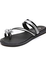Women's Slippers & Flip-Flops Spring Summer Comfort PU Casual Flat Heel Pearl