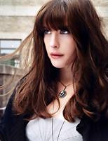 Europe and the United States fashion ladies Liuhai brown short hair high temperature silk breathable wig