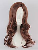 Cosplay Wigs Cosplay Cosplay Brown Long Curly Anime Cosplay Wigs 70 CM Heat Resistant Fiber