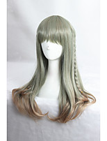 Medium Long Straight Color Mixed Beautiful Girls Synthetic 24inch Anime Lolita Wig CS-285A