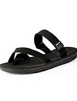Men's Slippers & Flip-Flops Summer Gladiator Light Soles Linen Outdoor Casual Flat Heel Black Brown