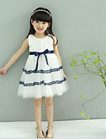 Girl's Going out Holiday Solid Dress,Cotton Summer Sleeveless