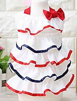 Chien Robe Vêtements pour Chien Eté Princesse Mignon Mode Décontracté / Quotidien Rouge Rose