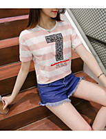 Model real shot summer 2017 letters printed t-shirt female short paragraph bottoming shirt T-shirt student influx