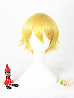 Short blonde l'animation shiwasu kakeru synthétique 12inch anime cosplay cheveux perruque cs-297a