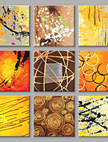 IARTS®Oil Paintings Set of 9 DIY Combination Modern Abstract Wall Art For Home Decoration Hand Painted Canvas Ready to Hang