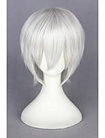 court tokyo-goule Kaneki ken perruque argent cosplay 14inch blanc cs-195A