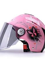 YEMA 310 Motorcycle Helmet Summer ABS  Anti-UV Half Helmet For 54-61cm with Black Tea Lens