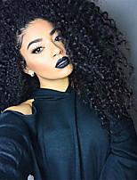 10-26 дюймов человеческих девственных волос натуральный черный цвет кружева фронт парик маленькая фигурная прическа с детскими волосами