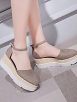 Sandály-PU-S páskem-Dámské-Černá Světle šedá Červená-Běžné-Kačenka