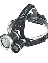 Headlamps LED Lumens Mode 18650 Easy Carrying Camping/Hiking/Caving Outdoor Aluminum alloy