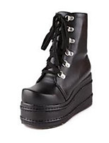 Women's Boots Winter Mary Jane PU Casual Flat Heel