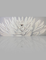 Modern Artwork White Flower 100% Hand-Painted Oil Painting by IARTS for Home Decoration Ready to Hang