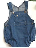 Girls' Casual/Daily Solid Overall & Jumpsuit-Cotton Summer Spring Fall
