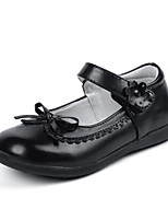 Girl's Flats Comfort PU Outdoor Casual Black Running
