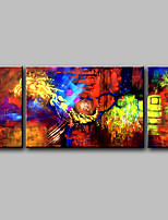 Hand-Painted Abstract  Modern Four Panels Canvas Oil Painting Three Home Decoration