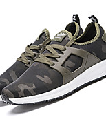 Men's Sneakers Spring Summer Fall Comfort Light Soles Tulle Outdoor Casual Athletic Fitness & Cross Training Low Heel Lace-up Black Khaki