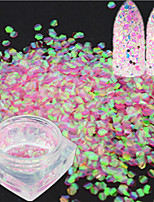 1 Bottle Fashion Laser Sweet Pink Nail Art Mermaid Hexagon Paillette Glitter Fish Scale Slice Nail Art Decoration Paillette Sweet Design LP03