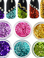1Bottles Nail Art Colorful Glitter Water Droplet Paillette Nail Beauty Glisten Paillette Nail DIY Shiny Decoration Design D01-11