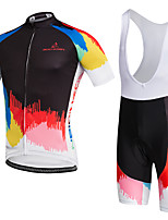 AOZHIDIAN Summer Cycling Jersey Short Sleeves BIB Shorts Ropa Ciclismo Cycling Clothing Suits #AZD137