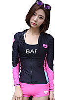 SBART® Women's Wetsuits Ultraviolet Resistant Anti-Eradiation Elastane Chinlon Diving Suit Long Sleeve Diving Suits-Swimming Diving