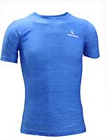 Homme Manches courtes Course / Running Survêtement Tee-shirt Hauts/TopsRespirable Séchage rapide Design Anatomique Résistant aux