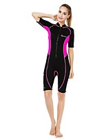 Women's Wetsuit Skin Thermal / Warm Ultraviolet Resistant Nylon Neoprene Diving Suit Half Sleeve Diving Suits-Diving Surfing Snorkeling