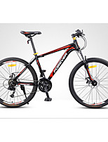 Mountain Bike Cycling 24 Speed 24 Inch 26 Inch/700CC Double Disc Brake Non-Damping Steel Frame Non-Damping Ordinary/Standard Anti-slip