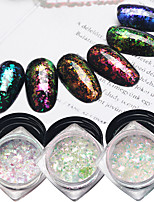 6pcs Super Bright Chameleon Brocade Star Manicure Powder Sequins 6 Classic Color